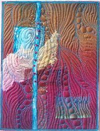 Waterfall art quilt