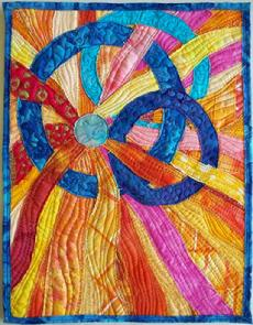 Hoop Dance art quilt