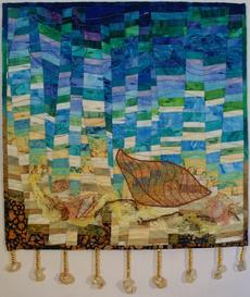 A Small Whale Tale art quilt