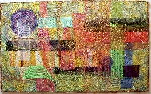Layered Landscape textile art