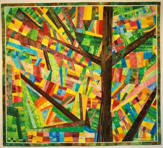 And the Tree Spoke art quilt
